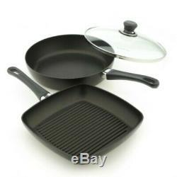 SCANPAN CLASSIC SAUTE PAN 28cm GRILL PAN 27cm SET COOKWARE NON STICK KITCHEN