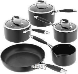 STELLAR 2000 5 piece Teflon N/Stick Saucepan Set + Fry Pan 14/16/18/20/26cm S2C1
