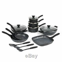 Salter COMBO-4436 Megastone Complete Non-Stick Cookware Collection with Utensils