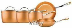 Saucepan 5 Piece Prestige Set Frypan Aluminium Non Stick Pans Induction Copper