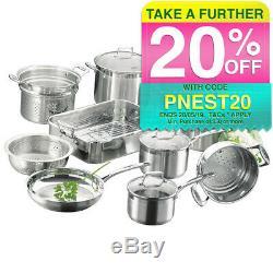 Scanpan Impact 10Pc Cookware Set Fry Pan/Saucepan/Steamer/Casserole Pot/Roaster