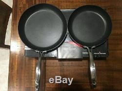 Scanpan Pro IQ 2 Piece 9.5 and 11 Fry Pan set Stratanium Nonstick
