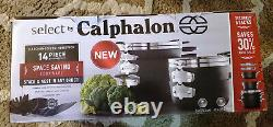Select by Calphalon Space-Saving Hard Anodized Nonstick Pots and Pans, 14-Piece