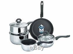Set of 5 Buckingham Deep Induction Saucepans/Cookware/Pan Set with lids