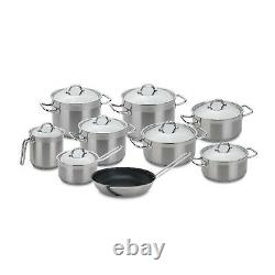 Silampos Professional Tejo 17 Pieces Stainless Steel Cookware Set Made In Portug