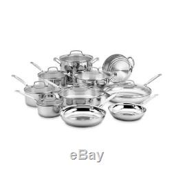 Stainless Steel 17 Piece Cookware Set Non Stick Cooking Pots and Pans Kitchen S