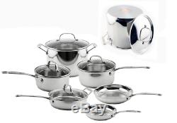 Stainless Steel Cookware Set Premium Non Stick Pots and Pans Kitchen Cooking New