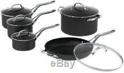 Starfrit Rock Cookware Set Pot Pan Lid Cover 10 Piece Stainless Steel Handles