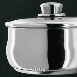 Stellar 1000 9 Piece Stainless Steel Deep Sauce Pan Set Mirror Polished 18/10