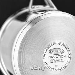 Stellar 5000 Induction 5 Piece Draining Lid Saucepan Set