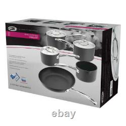 Stellar 6000 Hard Anodised 5 Piece Cookware Set