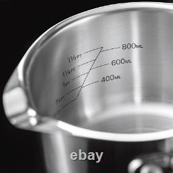 Stellar 7000 5 Piece Stainless Steel Induction Draining Saucepan Set OPEN BOX