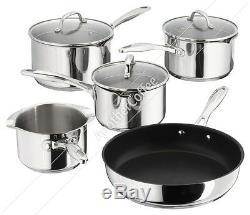 Stellar 7000 S7C1D 5 Piece Set 3 Draining Saucepans, Milk & Fry Pan