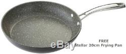 Stellar Rocktanium 5 Piece Stone Quartz Saucepan Set SPC1 FREE 20cm Frying Pan