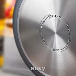Stellar S6A1 Hard Anodised 3 Piece Saucepan Set Brand new