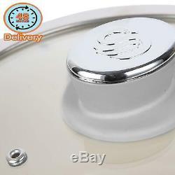 Swan Retro Pan Set With Easy Clean Non-Stick Ceramic Coating, Aluminium, Grey, 5