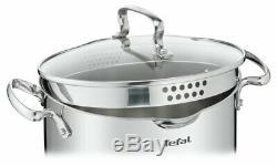 TEFAL COOKWARE SET DUETTO+ 12 PCS SAUCEPAN STEWPOTS STOCKPOT 2 x FRYING PANS PAN