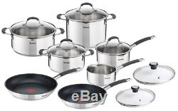 TEFAL COOKWARE SET ILLICO 13 PCS SAUCEPAN STEWPOTS STOCKPOT 2 x FRYING PANS PAN