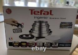 TEFAL INGENIO Pots and Pans Set, Stainless Steel, 13 Piece Induction 24hr Del