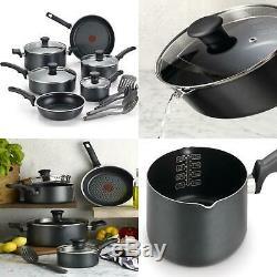 T-fal Cookware Set 14 Piece Non-Stick Pans Pots Cook Aluminum Dishwasher Safe
