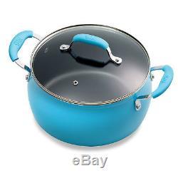 Tasty 30 Piece Non-Stick Cookware Set of Pots and Pans + Google Home Mini Blue