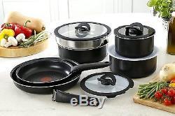Tefal 13-Piece Ingenio Essential Sauce/Frying Pan Complete Set, Black