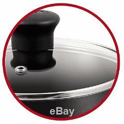 Tefal 5-Piece Cookware Saucepan Sets Non Stick Pots and Pans Set, Black