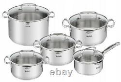 Tefal Cookware Set Duetto+ 11 Pcs With Frying Pan 28 CM Saucepan Stewpots Pots