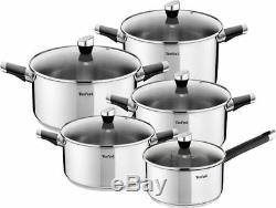 Tefal Cookware Set Emotion 10 Pcs + Frying Pans Duetto 24 CM And 28 CM Pots Pan