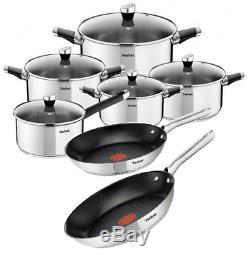 Tefal Cookware Set Emotion 10 Pcs + Frying Pans Duetto 24 Cm, 28 CM Pots Pan