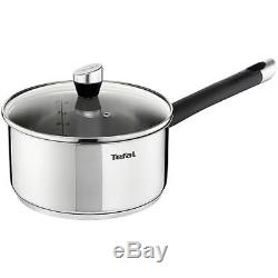 Tefal Emotion Stainless Steel 5 Piece Pan Set, Induction Compatible