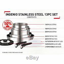 Tefal Ingenio 13-Piece Stainless Steel Pan Set
