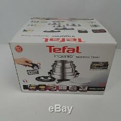 Tefal Ingenio 13-Piece Stainless Steel Pan Set NEW ONLY 1 HANDLE