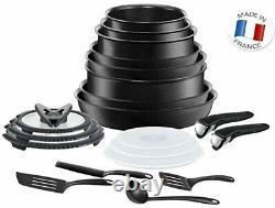 Tefal Ingenio 20pc Non-Stick Induction Pan Set Black RRP £279.00