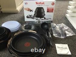 Tefal Ingenio 20pc Non-Stick Pan Set, Black New Unused