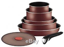 Tefal Ingenio 5 Essential Red Velvet Pots And Pans Set For All Heat Sources NEW