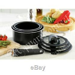 Tefal Ingenio Aluminium 7 Piece Pan Starter Set Around Patented Handles Detach