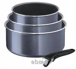 Tefal Ingenio Elegance 15 Pcs Cookware Set Pans Pots Plastic Lids Pan Pot New