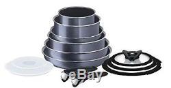 Tefal Ingenio Elegance Non-stick Frying Pan or Saucepan Cookware Set, Grey