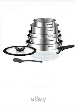 Tefal Ingenio Emotion Pots and Pans Set, Stainless Steel, 10-Piece, Induction