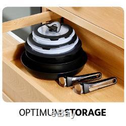 Tefal Ingenio Essential 13-Piece Non-Stick Pots and Pans Set & Bakelite Handles