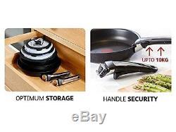 Tefal Ingenio Essential Non-stick Saucepan Set, 13 Pieces Black