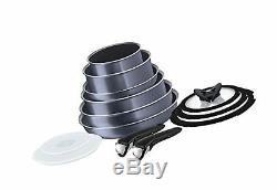 Tefal Ingenio Non-stick Elegance Cookware Set, 13 Pieces, Black 13 Piece