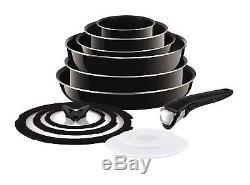 Tefal Ingenio Non-stick Enamel Cookware Set, 13 Pieces Black