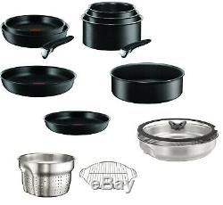 Tefal Ingenio Performance Black 14 Piece Pan Set, Suitable for All Heat Sources