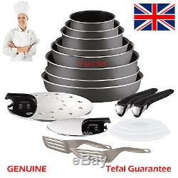 Tefal Ingenio Set of Frying Pans + Saucepans + ccessories, 17 or 10 pices sets