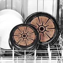 Tefal Ingenio Set of Frying Pans and Saucepans, Aluminium, black, 10 pièces