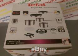 Tefal Ingenio Stainless Steel 13 Piece Pan set All Hobs/Induction New box poor