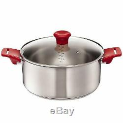 Tefal Jamie Oliver Mainstream H801S5 Stainless Steel 5 Piece Pan Set Red