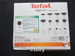 Tefal L2049002 Ingenio Set of 17 Charcoal All Heat Sources Cooking Pans